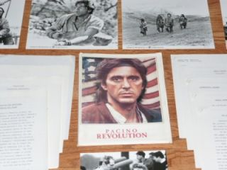 Revolution 1985 Movie Press Kit Al Pacino Nastassja Kinski Donald Sutherland