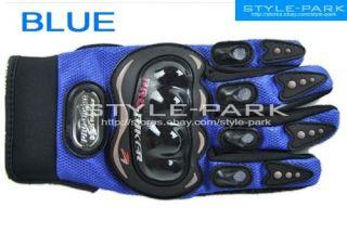 Pro Biker Motorcycle Biker Motocross Racing Outdoor Sport Gloves Blue M L XL XXL