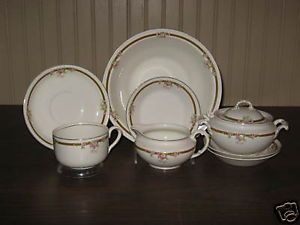 Vintage Johnson Brothers Bros Floral Dinnerware 9 PC
