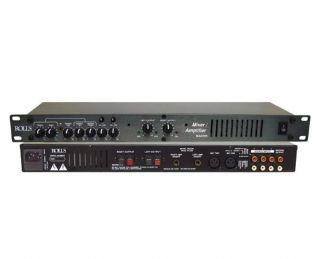 Rolls MA2355 Rack Mounted Amplified 1U Mixer 2 Mic Inputs w Phantom Power