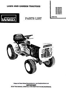 Montgomery Wards Gilson Bro's Tractors Parts Manual Gil 33416A thru Gil 33421A