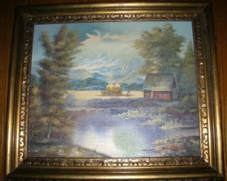 Henry Hoffman B 1935 Prussia Countryside Landscape Original Oil Painting