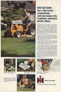 1969 IH International Harvester Cub Cadet Lawn and Garden Tractor Print Ad