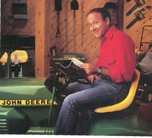 Vintage Ad 1985 John Deere Lawn Garden Mower Tractor Happy Owner