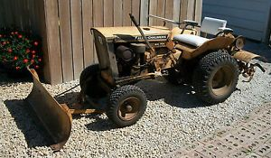 Allis Chalmers Big Ten Lawn and Garden Tractor with Tiller and Plow