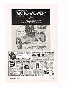 Vintage 1951 MOTO MOWER POWER LAWN MOWER REEL Original Print Magazine ADVERTISEM