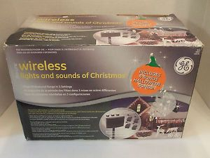 Christmas outdoor lighted joy sign window yard lights light ge pro line wireless lights and sounds of christmas outdoor light show aloadofball Image collections
