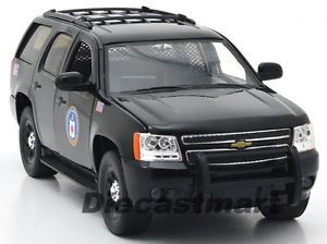 Jada 1 24 2010 Chevy Tahoe CIA New Diecast Model Police Car Black