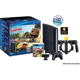 Sony PlayStation PS3 Move Super Slim Little Big Planet Karting 250GB 320GB Bundl