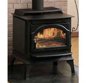 Majestic Windsor Series Small Steel Wood Burning Stove Model WR1000L02 Black