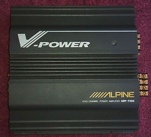 Alpine V Power 4 3 2 Channel MRP F200 Auto Car Power Speaker Subwoofer Amplifier
