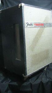 Vintage Fender Vibratone Electric Guitar Leslie Speaker Cabinet w Foot Switch