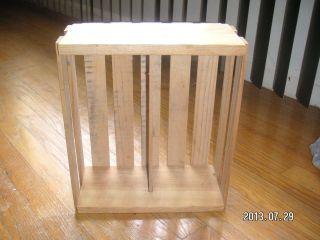 Wood Napa Valley Crate CD Jewel Case Holder Organizer Craft Supplies Storage Box