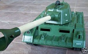 Vintage Deluxe Remote Control Tiger Joe Tank Over 3 Feet Long as Is for Parts