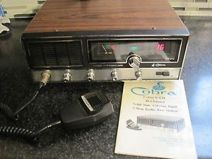 Vtg Cobra 40 Channel Citizens Band Base Station 87GTL 2 Way Radio Antenna