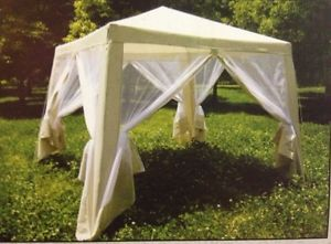 8'x8' Screen House Gazebo Outdoor Party Room Canopy Camping Yard Tent Pop Up New