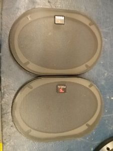 """Brand New Focal Access K2 Power Speaker Grill Cover 6x9"""" Pair 2 Co Axial"""