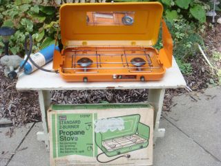Complete in Box Two Burner Propane Camp Stove  Roebuck Cooking Outdoor
