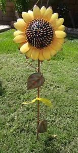 ... Metal Sunflower Garden Decor Yard Stake Brand New ...