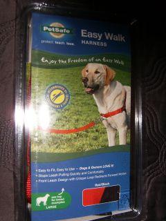 Brand New PetSafe Easy Walk Large Dog Harness Black Red