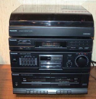 Panasonic Stereo System Tuner Radio Cassette Tape Record LP Player Turntable