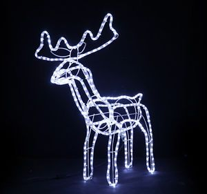 4 Pack Reindeer LED Christmas Decoration Lights Outdoor Holiday Deer Yard Decor
