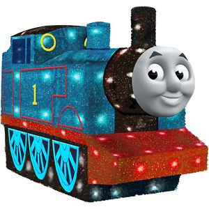 Thomas The Tank Engine Train Outdoor Lighted Tinsel Christmas Yard Decor Display