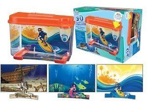 New Betta Fish Tank 3D Design Backgrounds Funky Kid Fun Fishies Aquarium Light