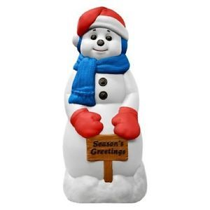 Christmas Holiday Outdoor Yard Decor Decoration Lit Plastic Snowman
