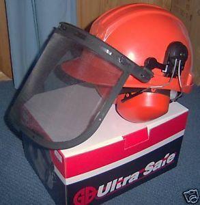 Chainsaw Safety Helmet Hard Hat with Earmuffs Visor