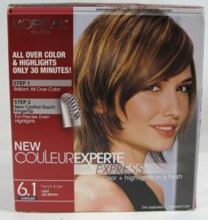 Loreal New Couleur Experte Express 6 1 Light Ash Brown Hair Color Highlight Kit