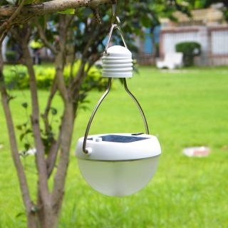1x Solar Outdoor 8 LED Human Body Motion Sensor Camping Lantern Lamp Night Light