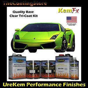 Lamborghini Lime Green Pearl Tricoat Auto Car Paint Kit