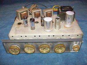 Vintage Motorola 3 Channel Tube Amplifier Amp EL84 6BQ5 ECL82 6BM8 5U4