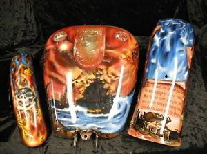 Custom Airbrushing Paint Job Pirates Evil Clowns Skulls Tribal Motorcycle Parts