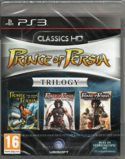 Prince of Persia Trilogy Three Games on 1 Disk HD Game PS3 New SEALED