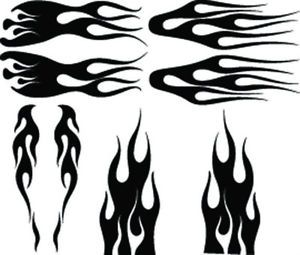 RC Airbrush Stencils Paint Masks Flame Set 2