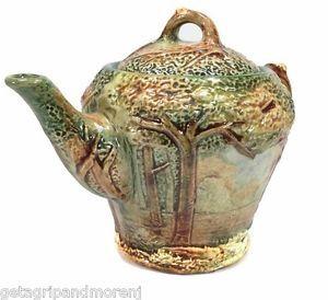 Weller Pottery Forest Tea Pot Trees Woods Antique Vintage