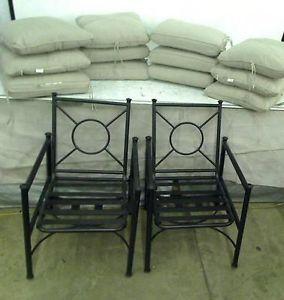 Hampton Bay Barnsley 2 Patio Chairs with Textured Silver Pebble Cushions