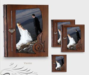 Professional Leather Wedding Photo Album 14X11 Inc 25x30 cm Profesional Album