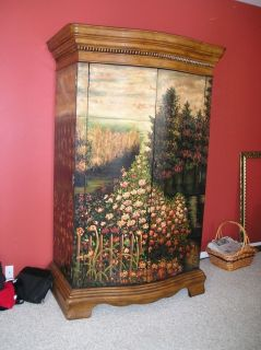 ... Hand Painted Armoire TV Console Hooker Furniture Seven Seas Collection  ...