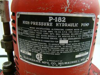 Blackhawk High Pressure Hydraulic Pump P182