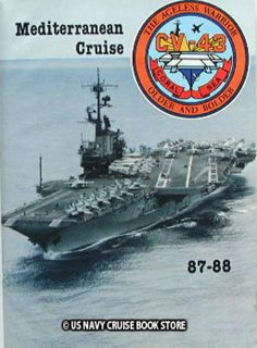 USS Coral Sea CV 43 Mediterranean Cruise Book 1987 1988
