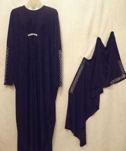 New Style Dubai Farsha Abaya Jilbab Dress Thob Kaftan Khaleeji Maxi Scarf