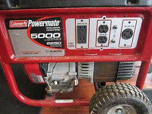 Coleman Powermate 5000 6250 Watt Portable Generator