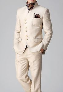 Mens Tailored Wedding Tuxedo Jacket Trouser Coat Pant Blazer Indo Western Suit