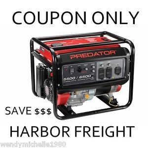 Coupon $210 Off 4000 3200 Max Watts Portable Generator Harbor Freight Tools