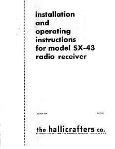 Hallicrafters SX Receiver