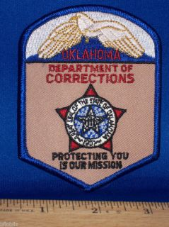 Oklahoma Department Corrections Officer Jail Logo Patch