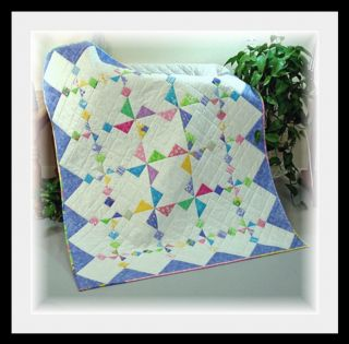 New Spring Winds Crib Twin Baby Quilt Pattern New